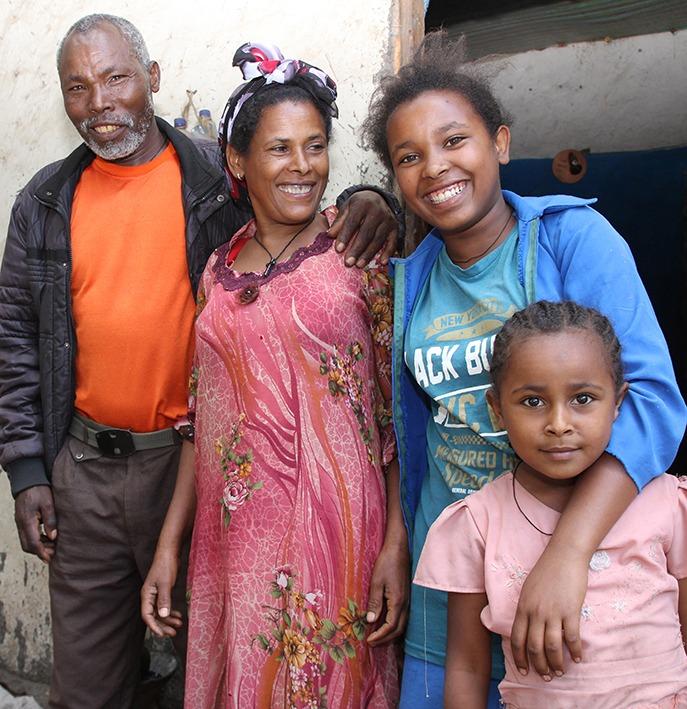 musta Etiopian suku puoli Iso sieni hanat